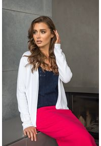 Biały sweter VEVA długi, klasyczny