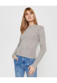 Szary sweter z długim rękawem, do pracy, casualowy