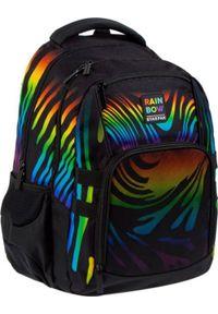 Starpak Plecak szkolny Rainbow czarny. Kolor: czarny