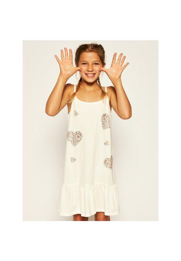 Biała sukienka TwinSet prosta, casualowa, na co dzień