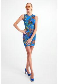 Versace Jeans Couture - SUKIENKA VERSACE JEANS COUTURE. Długość rękawa: na ramiączkach. Typ sukienki: dopasowane, ołówkowe. Długość: mini