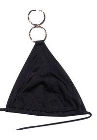 BEACH BUNNY - Top od bikini Nadia. Kolor: czarny. Materiał: materiał. Wzór: aplikacja