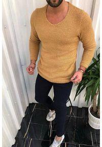 Żółta koszula IVET z długim rękawem, długa