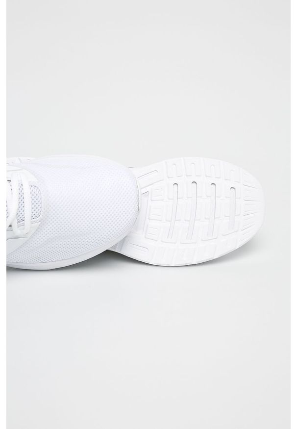 Białe buty sportowe Adidas z cholewką, na sznurówki