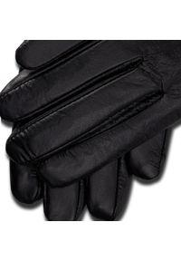 Semi Line - Rękawiczki Damskie SEMI LINE - P8207 Czarny. Kolor: czarny. Materiał: skóra
