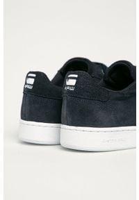 Niebieskie sneakersy G-Star RAW z cholewką, na sznurówki