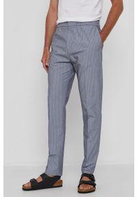 Hugo - Spodnie. Kolor: szary. Materiał: tkanina, poliester