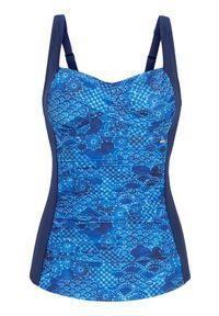Cellbes Tankini we wzory niebieski female ze wzorem/niebieski 40. Kolor: niebieski. Materiał: poliester