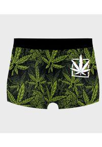 MegaKoszulki - Bokserki męskie fullprint Marijuana. Wzór: nadruk