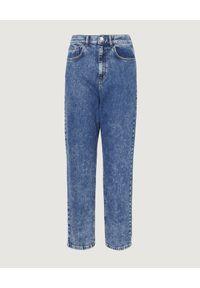 Marella - MARELLA - Niebieskie jeansy mom-fit. Stan: podwyższony. Kolor: niebieski. Długość: długie