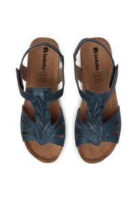 Niebieskie sandały Inblu z aplikacjami, casualowe