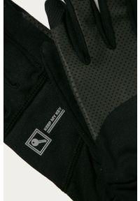Czarne rękawiczki Craft z nadrukiem
