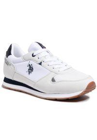 U.S. Polo Assn - Sneakersy U.S. POLO ASSN. - Wily S4096S1/HM1 Whi. Kolor: biały. Materiał: skóra ekologiczna, materiał. Szerokość cholewki: normalna