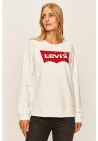 Levi's® - Levi's - Bluza. Okazja: na spotkanie biznesowe. Kolor: biały. Wzór: nadruk. Styl: biznesowy