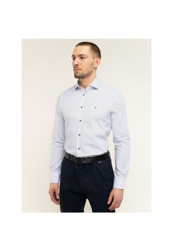 Biała koszula Tommy Hilfiger Tailored z nadrukiem