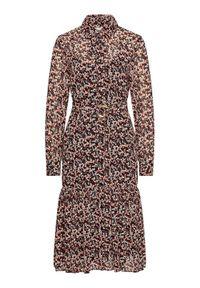 Sukienka Michael Kors w kolorowe wzory, koszulowa