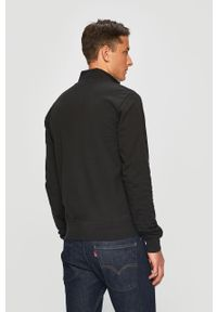 Czarna bluza rozpinana EA7 Emporio Armani na co dzień, bez kaptura