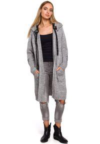 Sweter MOE z kapturem, elegancki, długi, na co dzień