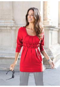 Shirt z długim rękawem bonprix czerwony. Kolor: czerwony. Długość rękawa: długi rękaw. Długość: długie