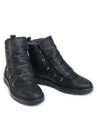 Czarne botki ecco