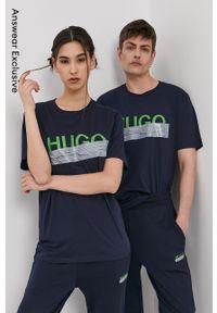 Hugo - T-shirt z kolekcji urodzinowej. Okazja: na urodziny. Kolor: niebieski. Wzór: nadruk. Styl: casual