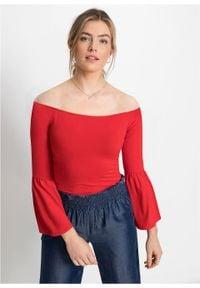 Shirt z rozkloszowanymi rękawami bonprix Shirt truskawkowy. Kolor: czerwony