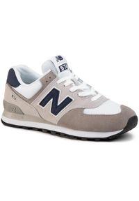 New Balance - Sneakersy NEW BALANCE - ML574EAG Szary. Okazja: na spacer, na co dzień. Kolor: szary. Materiał: skóra, materiał, zamsz. Szerokość cholewki: normalna. Styl: casual. Model: New Balance 574. Sport: turystyka piesza