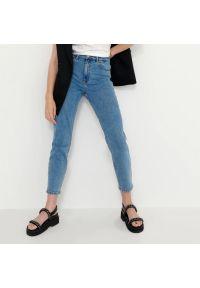 House - Mom jeans slim - Niebieski. Kolor: niebieski