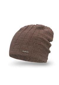 Zimowa czapka damska PaMaMi - Czekolada. Materiał: akryl. Sezon: zima