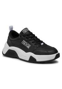 Versace Jeans Couture Sneakersy E0YWASF6 Czarny. Kolor: czarny