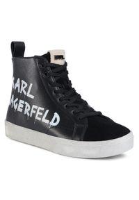 Czarne półbuty Karl Lagerfeld na co dzień, casualowe