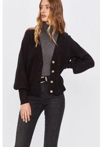 Czarny sweter rozpinany ANSWEAR raglanowy rękaw, wakacyjny