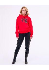 PAPROCKI&BRZOZOWSKI - Czerwona bluza z wężem. Kolor: czerwony. Materiał: materiał. Wzór: nadruk
