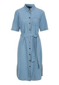Niebieska sukienka Happy Holly z krótkim rękawem
