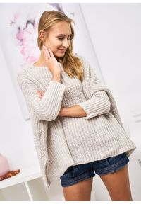 Czarny sweter LIGARI w paski