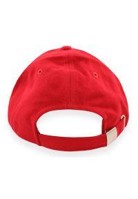 Czerwona czapka Janpol na lato, z haftami