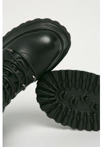 Czarne botki Answear Lab na sznurówki, wakacyjne