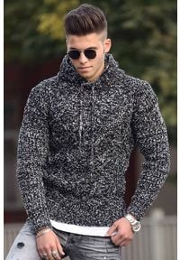 Szary sweter IVET na co dzień, z kapturem, casualowy