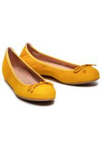 Żółte baleriny Unisa z aplikacjami, na co dzień, casualowe