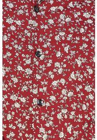 Brązowa koszula medicine button down, na co dzień, w kwiaty, długa