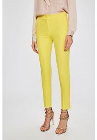 Żółte spodnie materiałowe ANSWEAR