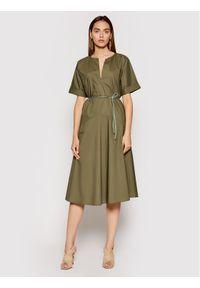 Imperial Sukienka codzienna ABTWBGV Zielony Regular Fit. Okazja: na co dzień. Kolor: zielony. Typ sukienki: proste. Styl: casual