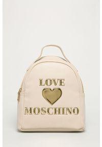 Kremowy plecak Love Moschino z aplikacjami