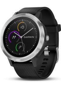 GARMIN - Zegarek sportowy Garmin Vivoactive 3 Czarny (010-01769-00). Kolor: czarny. Styl: sportowy
