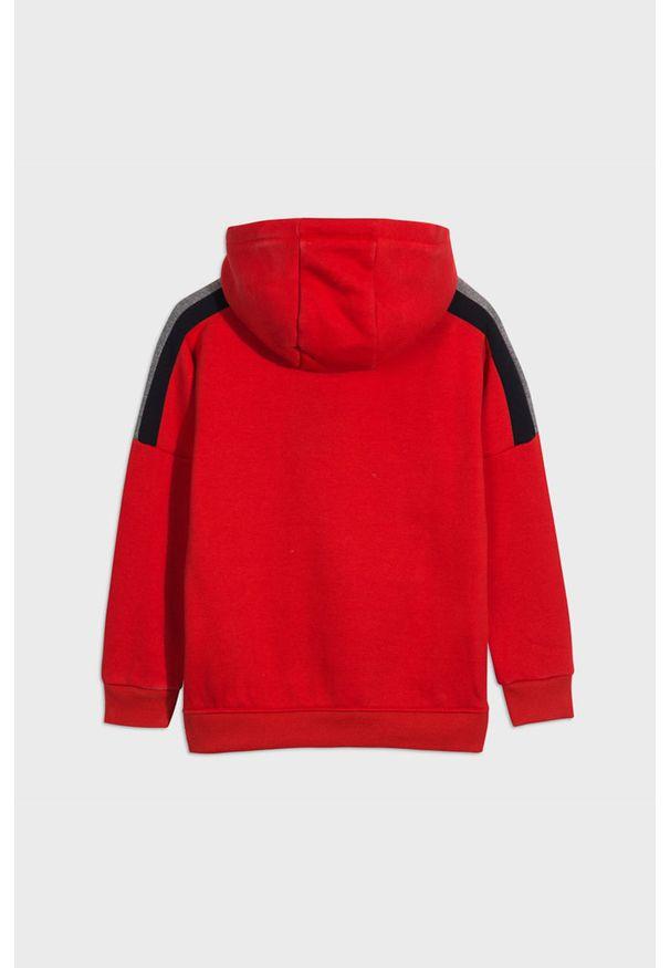 Czerwona bluza Mayoral casualowa, z kapturem, na co dzień, z nadrukiem