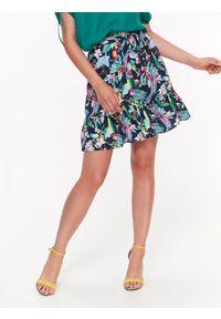 Niebieska spódnica TOP SECRET krótka, elegancka, z podwyższonym stanem