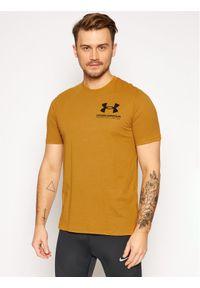 Under Armour T-Shirt Ua Performance Big Logo 1357174 Żółty Loose Fit. Kolor: żółty