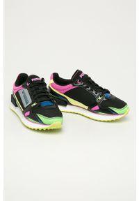 Wielokolorowe buty sportowe Puma na sznurówki, na obcasie, z cholewką, na średnim obcasie