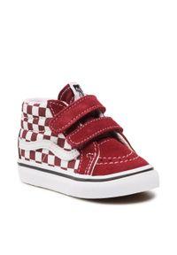 Vans - Sneakersy VANS - Sk8-Mid Reissue V VN0A5DXD99G1 (Checkerboard)Pmgrnttrwht. Kolor: czerwony. Materiał: zamsz, materiał, skóra