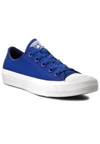 Converse - Trampki CONVERSE - Ct II Ox 150152C Sodalite Blue/White/Navy. Okazja: na co dzień. Kolor: niebieski. Materiał: materiał. Szerokość cholewki: normalna